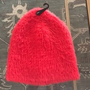 Free Press Textured Fuzzy Red Beanie NWT